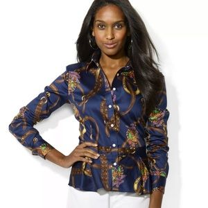 Lauren Ralph Lauren equestrian peplum blouse 14